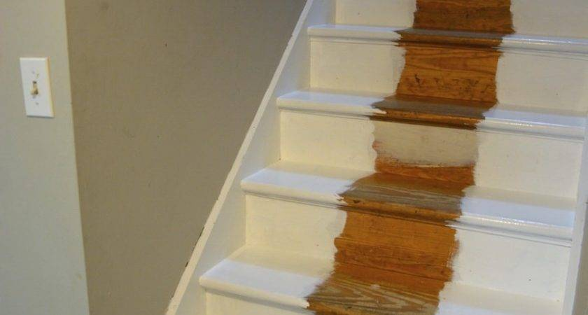 Before After Diy Painted Stairs Makeover Thrift