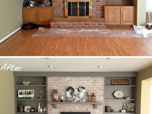 Before After Fireplace Surrounds Made Over