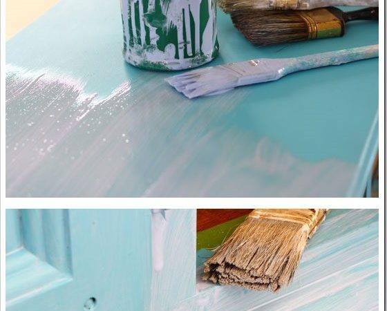 Before After Furniture Makeover Turquoise