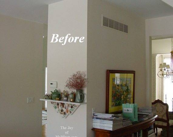 Before After Large Kitchen Crown Molding Joy