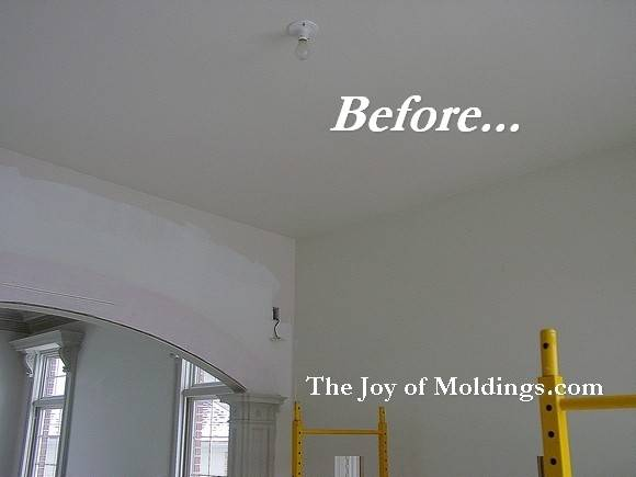Before After Soffit Crown Molding Archway Joy