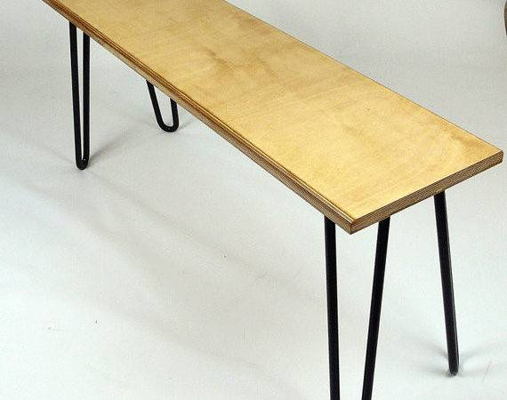 Bench Hairpin Legs Birch Plywood Industrial