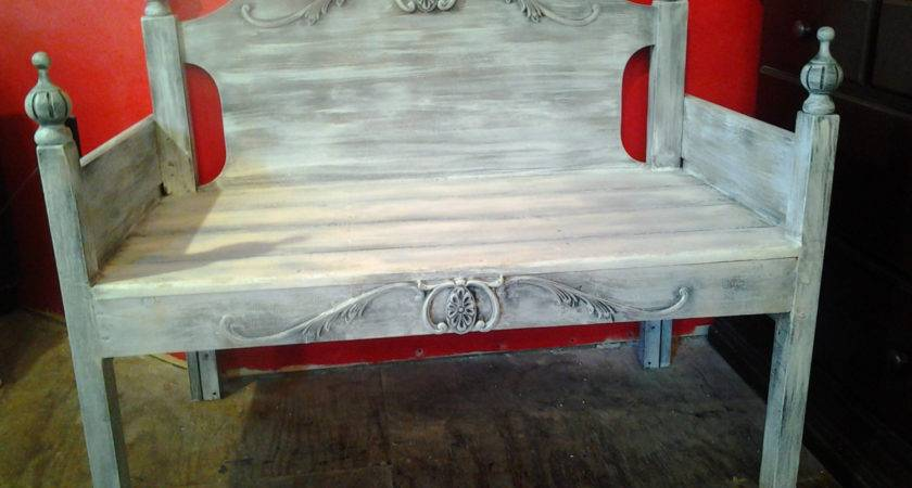 Bench Made Vintage Headboard Shabby Chic White