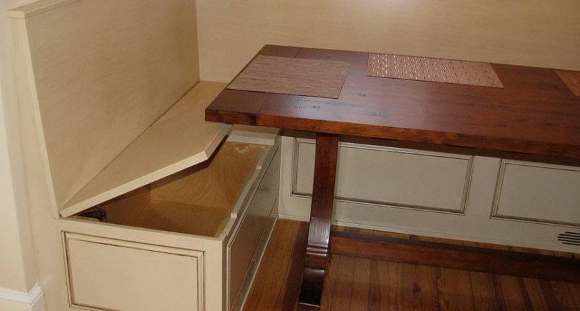 Bench Storage Under Breakfast Nook Fox Woodworking