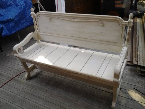 Benches Made Headboards Shabby Chic Finished Mandws
