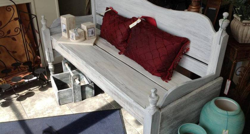 Benches Made Headboards Shabby Chic Finished Sprayed