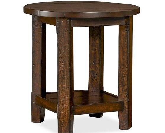 Benchwright Round Side Table Pottery Barn