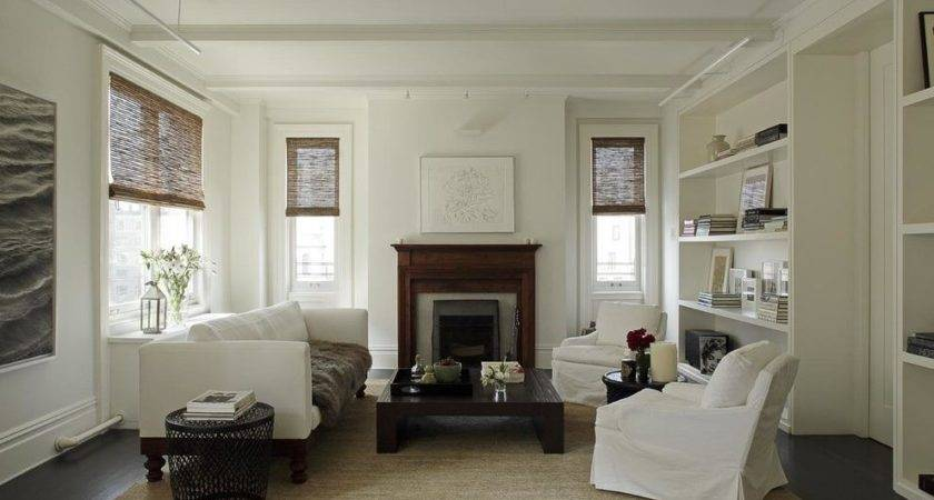 Benjamin Moore Intense White Living Room Beach Style