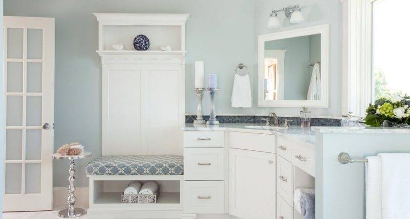 Benjamin Moore Smoke Bathroom Beach Style Designer