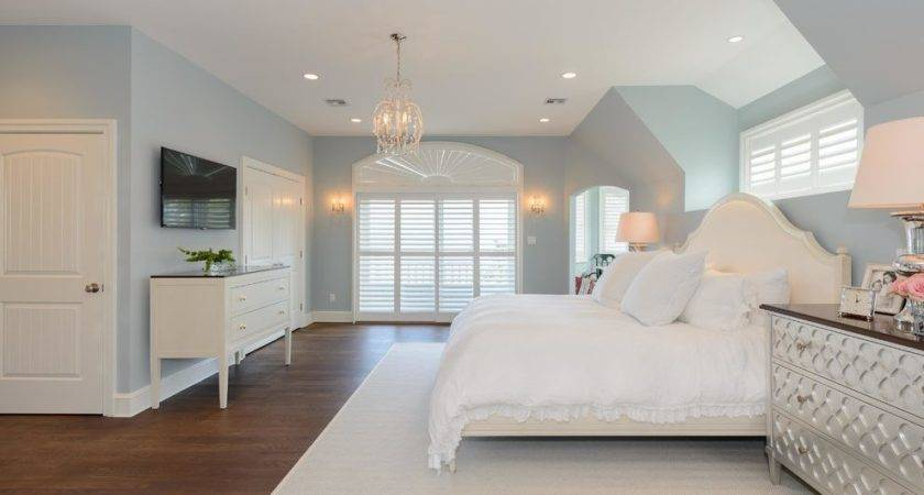 Benjamin Moore Smoke Bedroom Transitional White