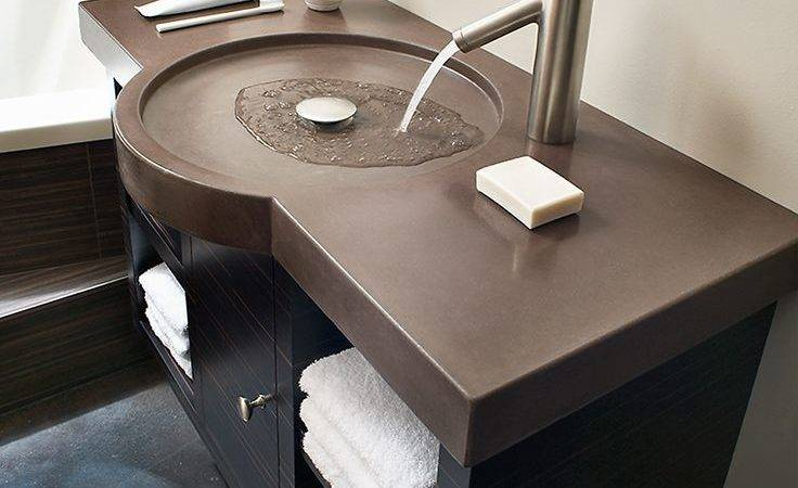Best Concrete Countertops Bathroom Ideas Pinterest