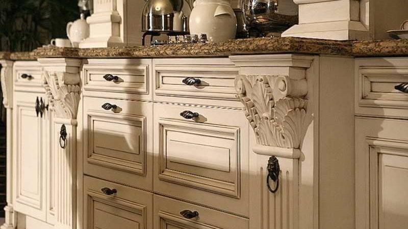 Best Off White Distressed Kitchen Cabinets