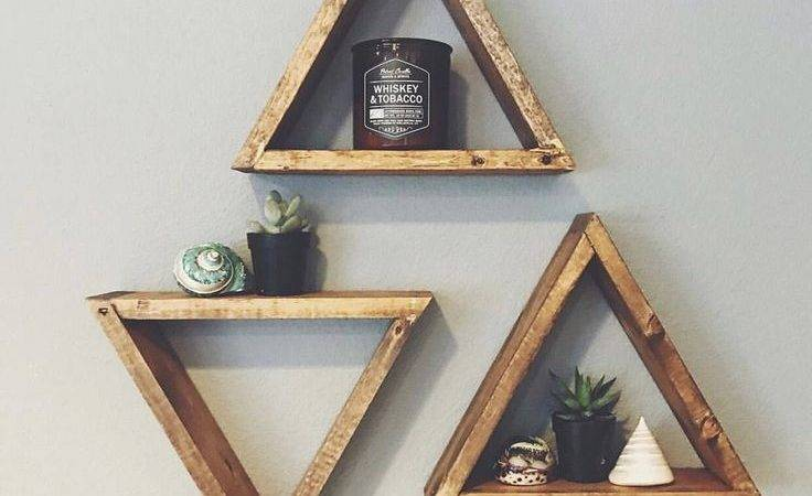 Best Triangle Shelf Ideas Pinterest Crystal