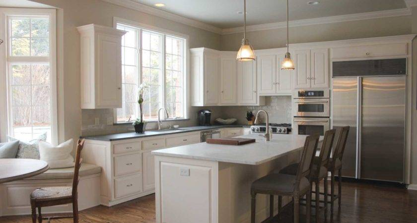 Best White Paint Kitchen Cabinets Ideas Revere Pewter