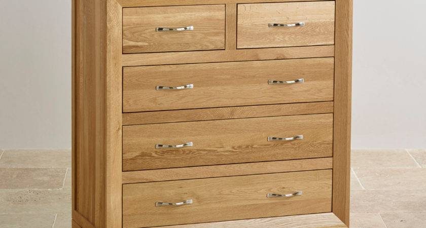 Bevel Drawer Chest Natural Solid Oak Furniture Land