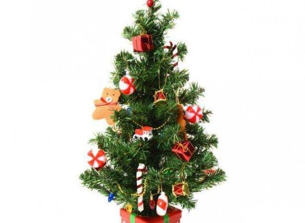 Bewitching Artificial Tabletop Christmas Tree Lights