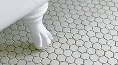 Black White Hexagon Bathroom Floor Tile Ideas