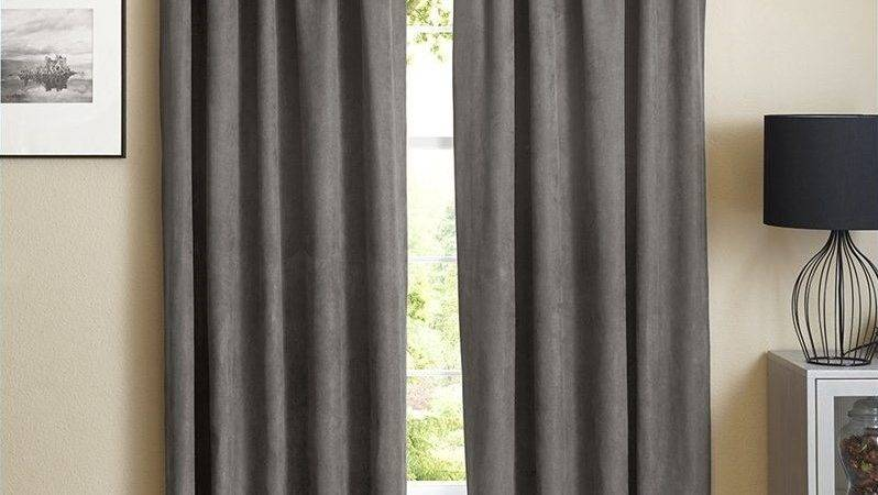 Blazing Needles Inch Blackout Curtain Panels Steel