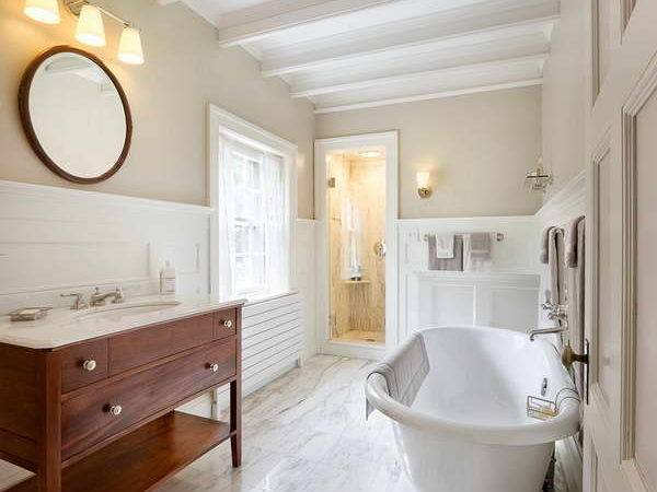 Bloombety Wainscoting Bathroom Ideas Marble