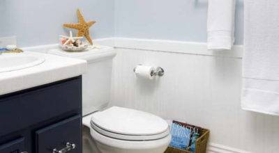 Bloombety Wainscoting Bathroom Ideas Pale Blue