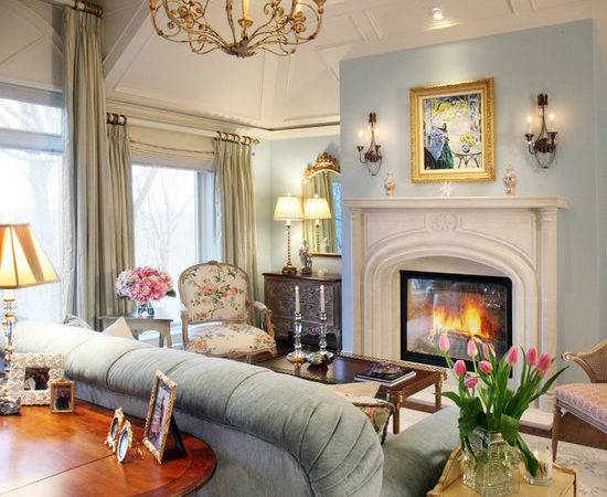 Blue Lace Fireplace Four Poster Bed Interiors Color