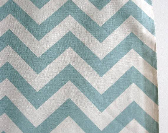 Blue Natural Chevron Home Decor Weight Fabric Sewfinefabric