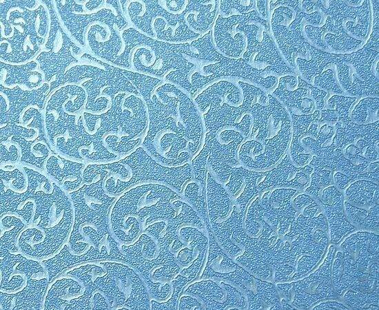 Blue Self Adhesive Pattern Damask Contact Paper