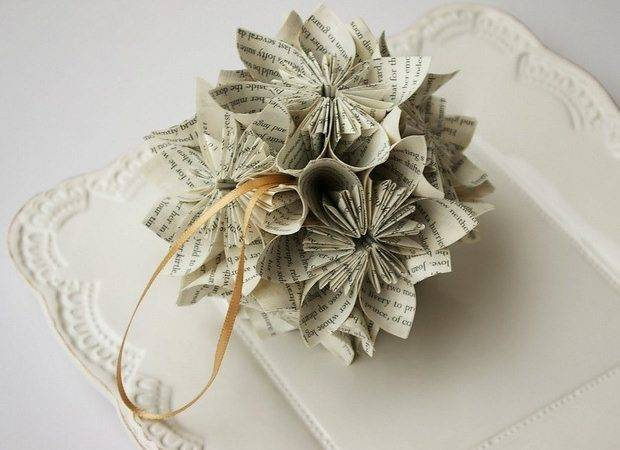 Book Christmas Ornaments Upcycled Ideas