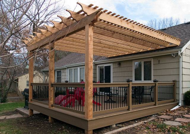 Pergola Over Deck Ideas Gabe Jenny Homes