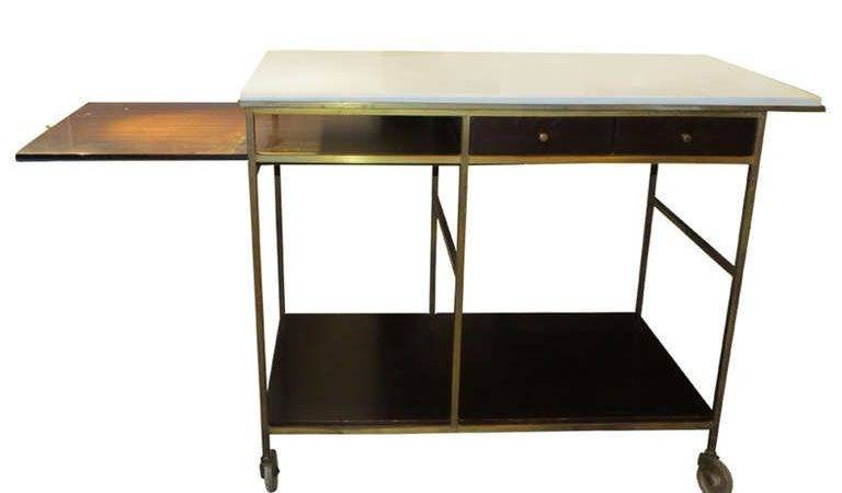 Brass Wood Bar Cart Paul Mccobb Stdibs
