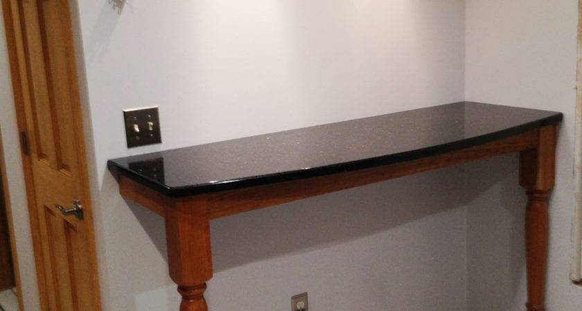 Breakfast Bar Supported Extended Concord Island Legs