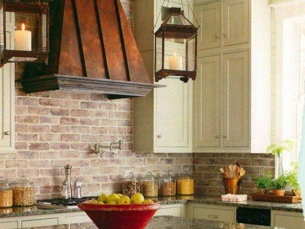 Brick Backsplashes Rustic Charm