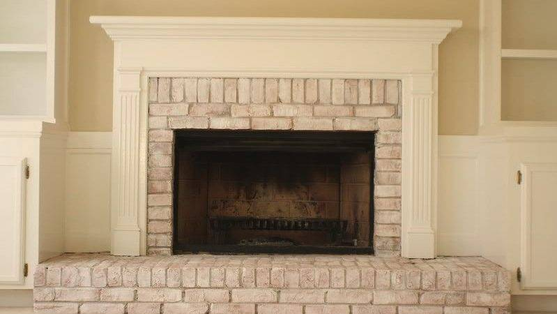 Brick Fireplace Facelift Wallums Wall Decor