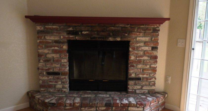 Brick Fireplace Your House Before After Paint