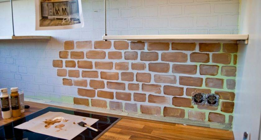 Brick Kitchen Design Ideas Tile Backsplash Accent