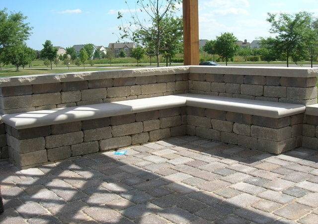 Brick Patio Seat Wall Pergola