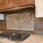 Brick Tile Backsplash Classic Kitchen Remodeling