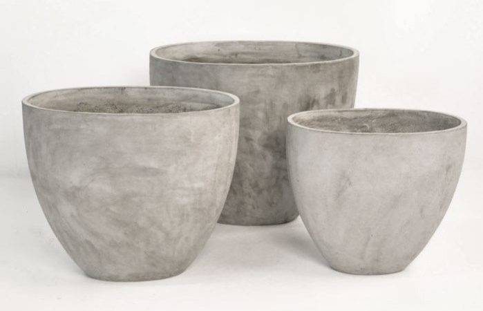 Brooklyn Concrete Planter Oval Outdoor Accessories
