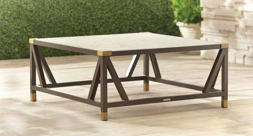 Brown Jordan Form Patio Chat Table