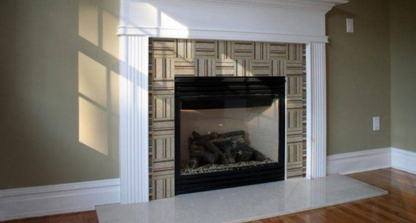 Brown Marble Fireplace Mantel White Molding