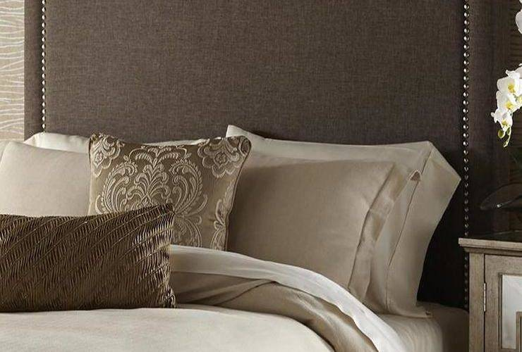 Brown Queen Upholstered Headboard