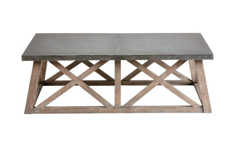 Bruckner Metal Top Coffee Table
