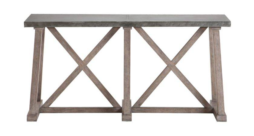 Bruckner Metal Top Console Table Tables Ethan