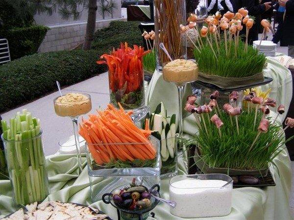 Buffet Table Decorating Ideas Set Elegant