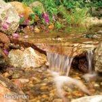 Build Backyard Waterfall Stream Handyman