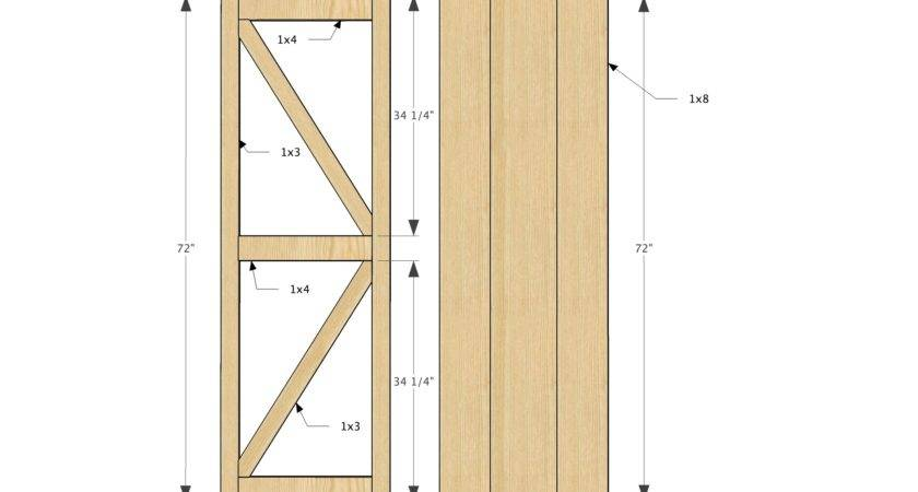 Build Barn Door Frame Home Interior Design