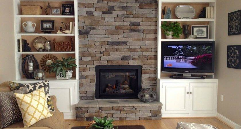 Build Bookcases Around Fireplace Design