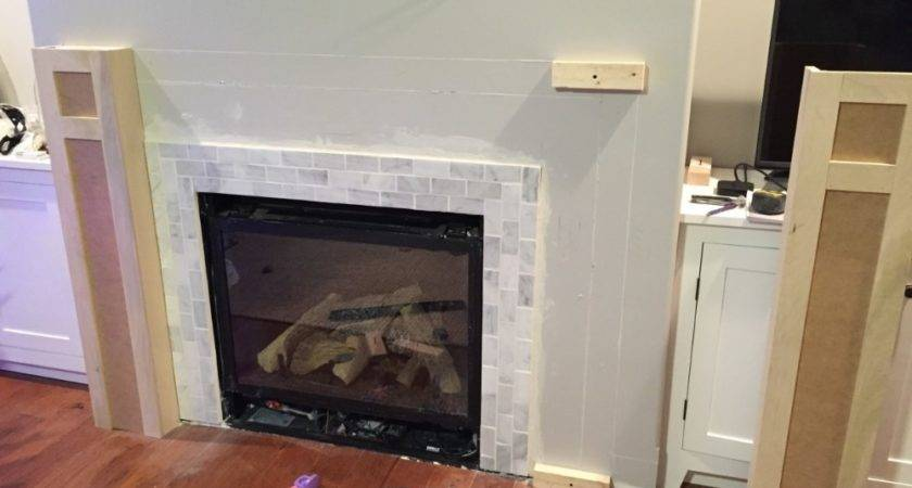 Build Built Part Fireplace Mantel