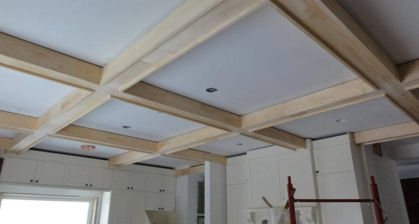 Build Coffered Ceiling Box Beams Daily