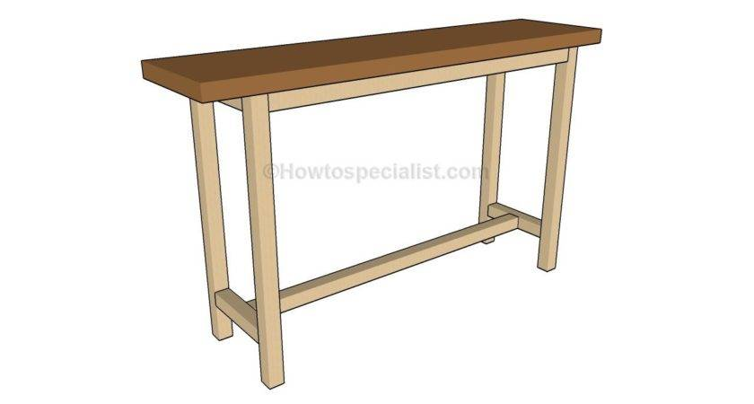 Build Console Table Howtospecialist